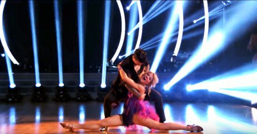 What score did Lindsey and Mark earn for their Salsa?