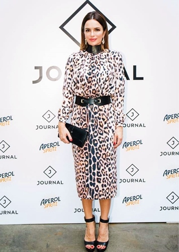 Who designed this dress she wore to a Journal HR event?