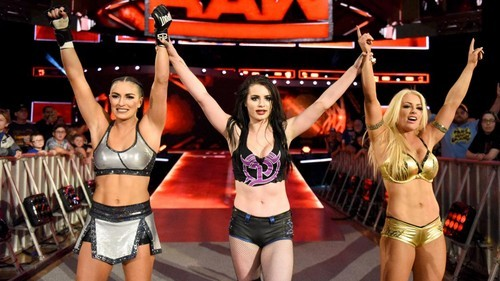 What is the name of the group Mandy Rose debuted in on Raw in 2017?