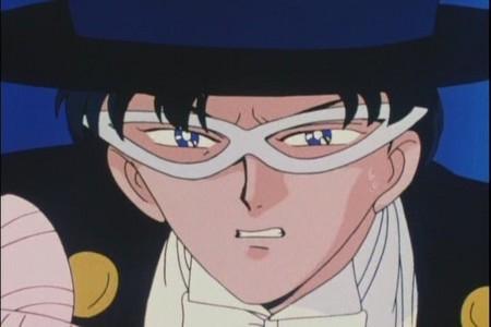 Why is Tuxedo Mask upset ?