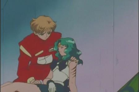 True or False: Sailor Neptune was hurt Trying to save Sailor Uranus?
