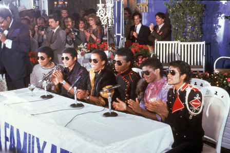 1983 Press conference in support of upcoming Victory tour