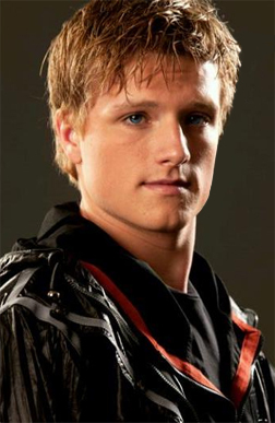 What was the exact first name of this main male character from The Hunger Games franchise films/movies?