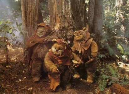 Meet the Ewoks from planet Endor. Which of those rival franchises\universes do the Ewoks actually belong to?