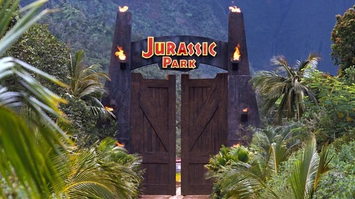 What movie monster did Jeff Goldblum mention in 'Jurassic Park' when they were getting a tour of the park?
