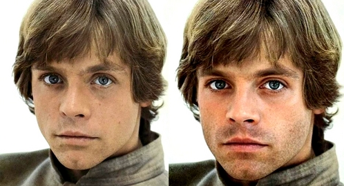 This is a picture of young Mark Hamill & his look-alike, Sebastian Stan. Can 你 guess which one is Mark Hamill on this picture?
