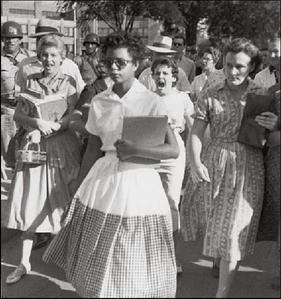 The desegregation of Central High School in Little Rock, Arkansas in 1957