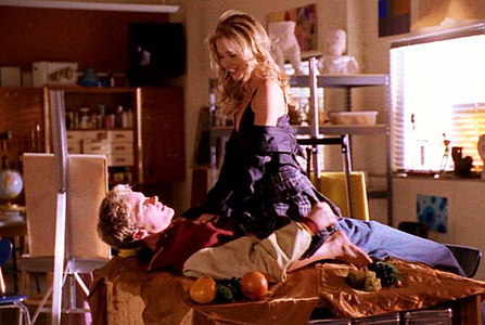 Which song plays when Buffy and RJ are together in S07E06 Him ?