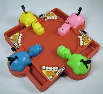 What año was the classic board game, Hungry Hungry Hippos, released