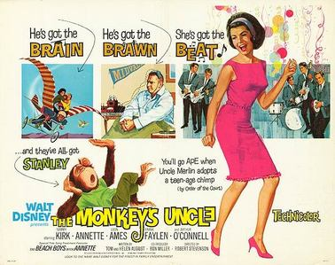 What năm was the classic Disney film, The Monkey's Uncle, released