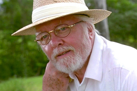 Who did John Hammond say was the voice for the 'Jurassic Park' tour ?
