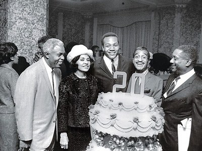 What venue was the 20th anniversary of Ebony celebration held back in 1965