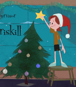"""★ In this closing credits scene of """"Bolt,"""" which character is shown to plug in the Christmas arbre lights for Penny? ★"""