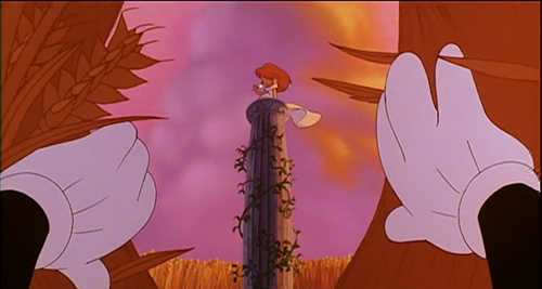 """★ In Max's 판타지 sequence at the beginning of """"A Goofy Movie,"""" what is the color of Roxanne's earrings? ★"""