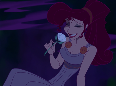 Which Muse last returned Megara's lily from Hercules?