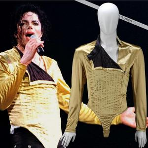 This iconic stage costume was worn door Michael on his Dangerous concert tour