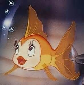 What was the name of the goldfish in the Disney cartoon, Pinnochio