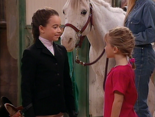 What was the name of the girl who Michelle went horseback riding with?