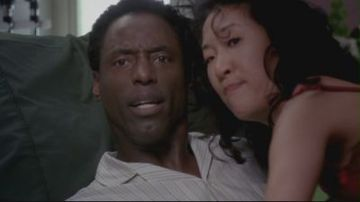Who had just walked on and interrupted Burke and Cristina during this moment?