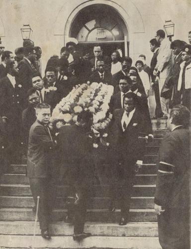 Otis Redding's funeral back in 1967