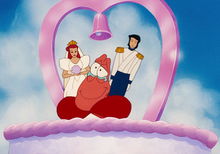 At Ariel and Eric's wedding, which sister is the first to wave goodbye?