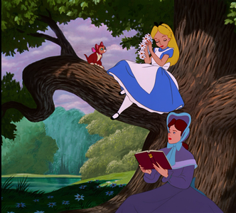 In the opening scene, Alice's sister reads aloud from a book that is meant to provide her with a(n) _________ lesson.