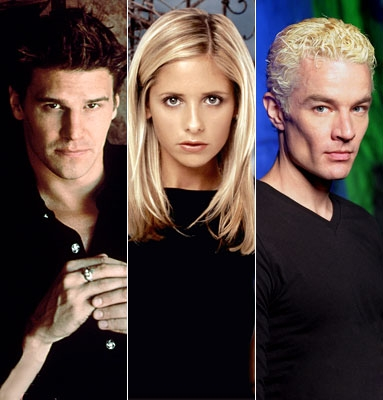 What was the name of एंजल and Spike's enemy that they found out Buffy was involved with?