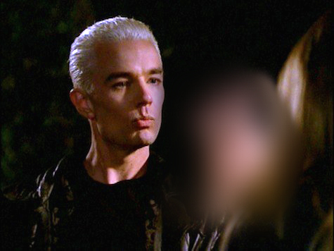 S05E05 No Place Like ホーム — SPIKE: Out. For. A. Walk...Bitch! — Which finger did he hold out as he counted down to 'bitch' ?