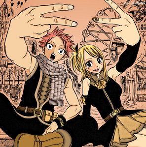 This Natsu and Lucy picture is made as cover for chapter...