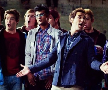 "True या False: The male a cappella group in Pitch Perfect is known as ""The Troubadours"""