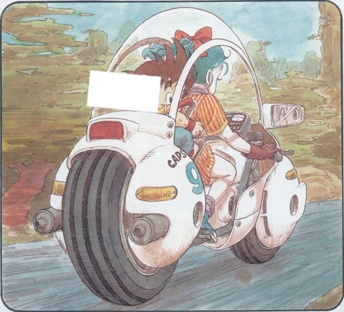 What's the number plate of Bulma's motorcycle?