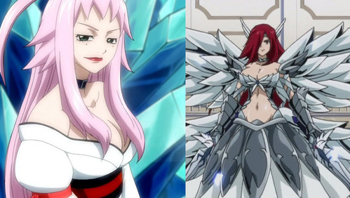 When Erza fights with Ikaruga(of Death's Head Caucus) which armour of her gets broken first?
