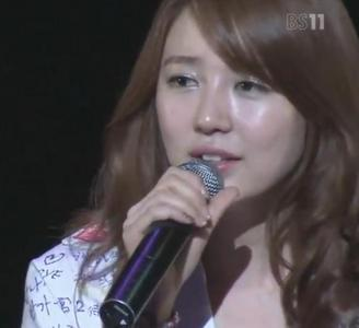 THE चित्र SHOWS YOON EUN HYE SANG ONE OF 2NE1 SONG FOR VALENTINE 2012 प्रशंसक MEETING AT FUKUOKA,JAPAN.PICK THE RIGHT SONG.