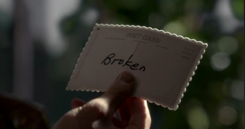 Once Upon A Time: Episode: Broken-Question One: Did a white merpati bring a postcard to a man that had Storybrook on it?