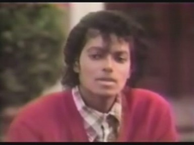 This photograph of Michael was taken somewhere in the 1980's