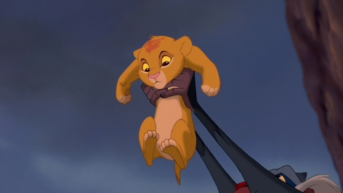 Which animals are the first to bow to Simba, during his presentation?