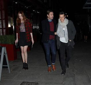 Matt took Karen to a restaurant.