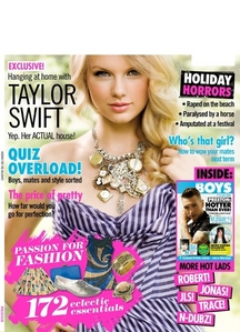 What magazine is Taylor on in this cover?