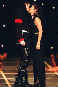 """First wife, Lisa Marie Presley, appeared in his 1995 video, """"You Are Not Alone"""", as his Amore interest"""