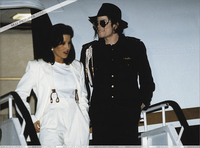 This of photograph Michael and first wife, Lisa Marie ...