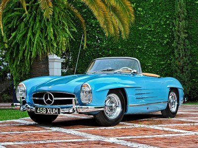 What year is this Mercedes - Benz 300 SL (R198) Convertible?
