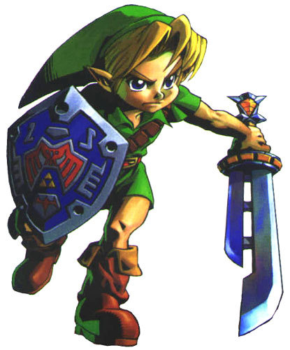A form of Link from The Legend of Zelda: Majora's Mask was thought to appear in the background of Game Central Station, but was later proven false. What form was it?