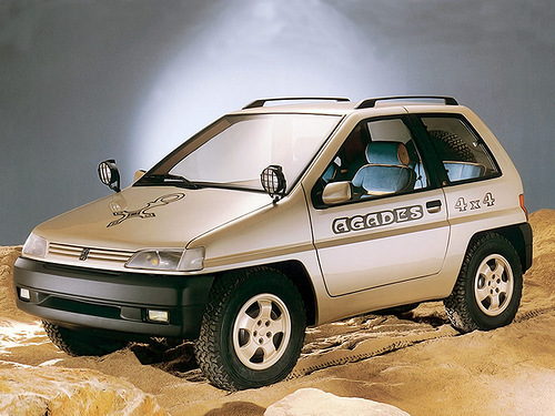 WHAT YEAR IS THIS PEUGEOT 4x4 AGADES CONCEPT BY HEULIEZ?