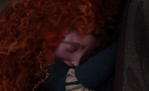 Before Elinor turned back into a human, what did Merida NOT say to her?