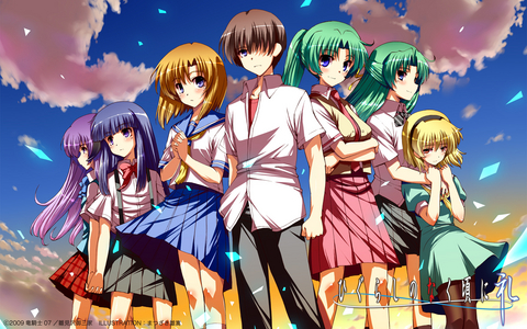 What is the village in Higurashi based on in real life?