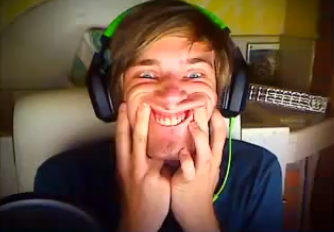 How many videos has Pewdiepie as of current which is ~~> (November 21, 2012)?