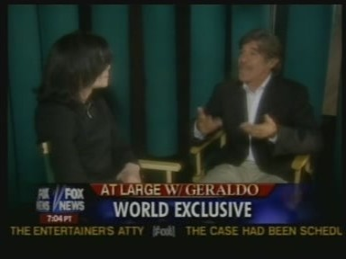 Michael was interviewed によって veteran journalist, Geraldo Rivera, back in 2005