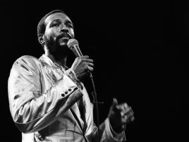 "Just one day shy of his ""45th"" birthday, music legend, Marvin Gaye, was shot to death by his own father on April 1, 1984"