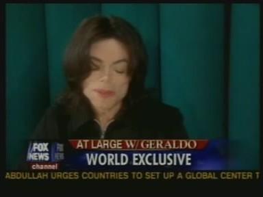 Michael was interviewed por veteran journalist, Geraldo Rivera, back in 2005