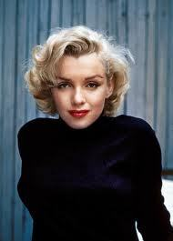 Marylin was a natural brunette